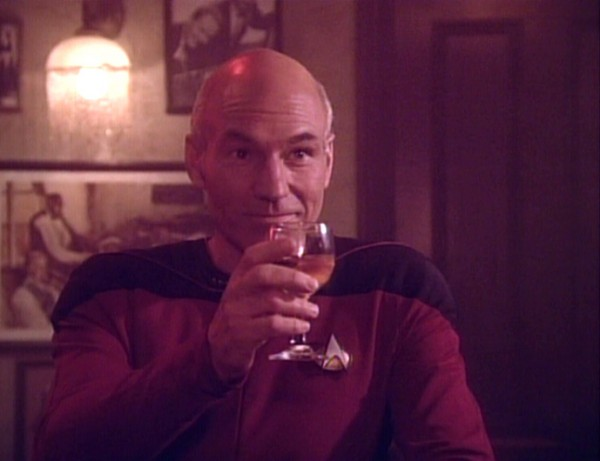 You're going to need more than one glass to get through this season, Picard.